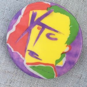 Accessories - XTC Drums & Wires vintage band pin